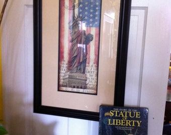 """DESTINATIONS """"Statue Of Liberty"""" Print By Tina Chaden"""