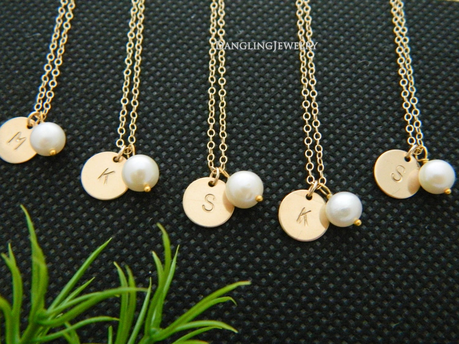 necklace minimalist jewelry circle bridesmaid gift h tiny products original collections modern bridesmai