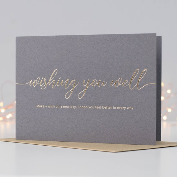 Get well soon card thinking of you card illness card get well soon card thinking of you card illness card recovery card empathy card feeling unwell greeting card sickness card get well m4hsunfo Choice Image