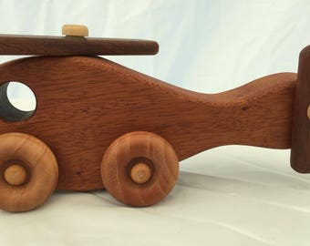 Handmade Wooden Toy Helicopter Type A