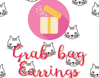 Grab bag Earrings - this grab bag is a surprise with only earrings. Worth at least 25 euro.