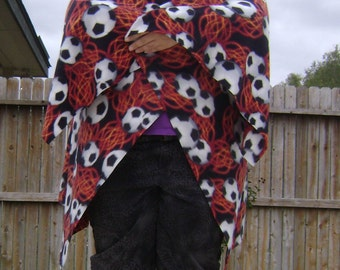 Flaming Soccer Balls Fleece Wrap