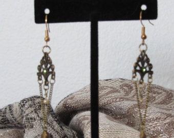 Drop Blue Jewel Earrings