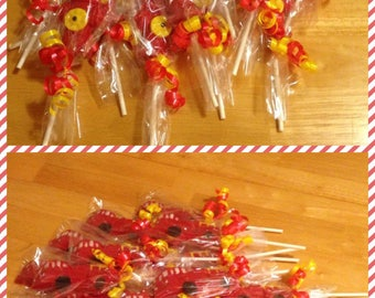 Firetruck Chocolate Lollipops