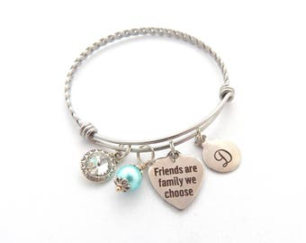 Personalized Friendship Bracelet, Gifts for Friends, Friends are the Family we choose Bracelet, Friendship Jewelry, Best Friend Gifts