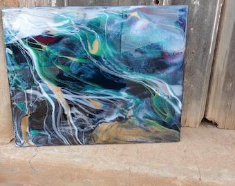 Resin Artwork on Artists Board, Wall Art