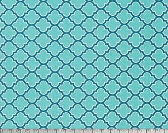 54077 - Joel Dewberry True Colors lodge lattice in aqua color - 1/2 yard