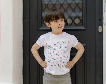 Organic cotton T-shirt Gecko child