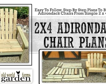 2x4 DIY Adirondack Chair Plans - Simple Plans for a Comfortable, Beautiful and Inexpensive Patio, Backyard, or Fire Pit Chair