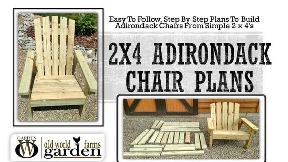 making your own adirondack chairs | 2x4 DIY Adirondack Chair Plans Simple Plans for a