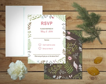 Rustic Shabby Chic Wedding Response Cards