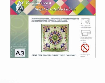 Matilda's Own Inkjet Printable Fabric Sheets A3 Size (5 Sheets)  42cm x 30cm