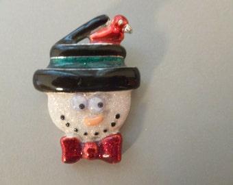 Vintage Snowman Brooch