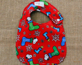 Christmas Snoopy Cloth Baby Bib