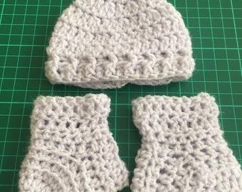 Preemie Hat and Bootie set