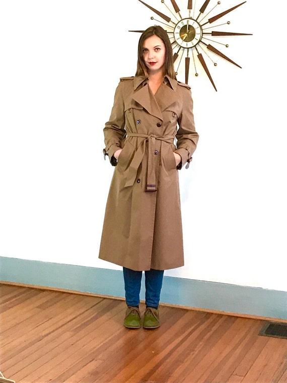 Trench Coat, Etiene Aigner Trench, Vintage 70s Trench, Womens Trench, 1970s Trench Coat, Chestnut Brown trench,Khaki trench, Ladies Raincoat