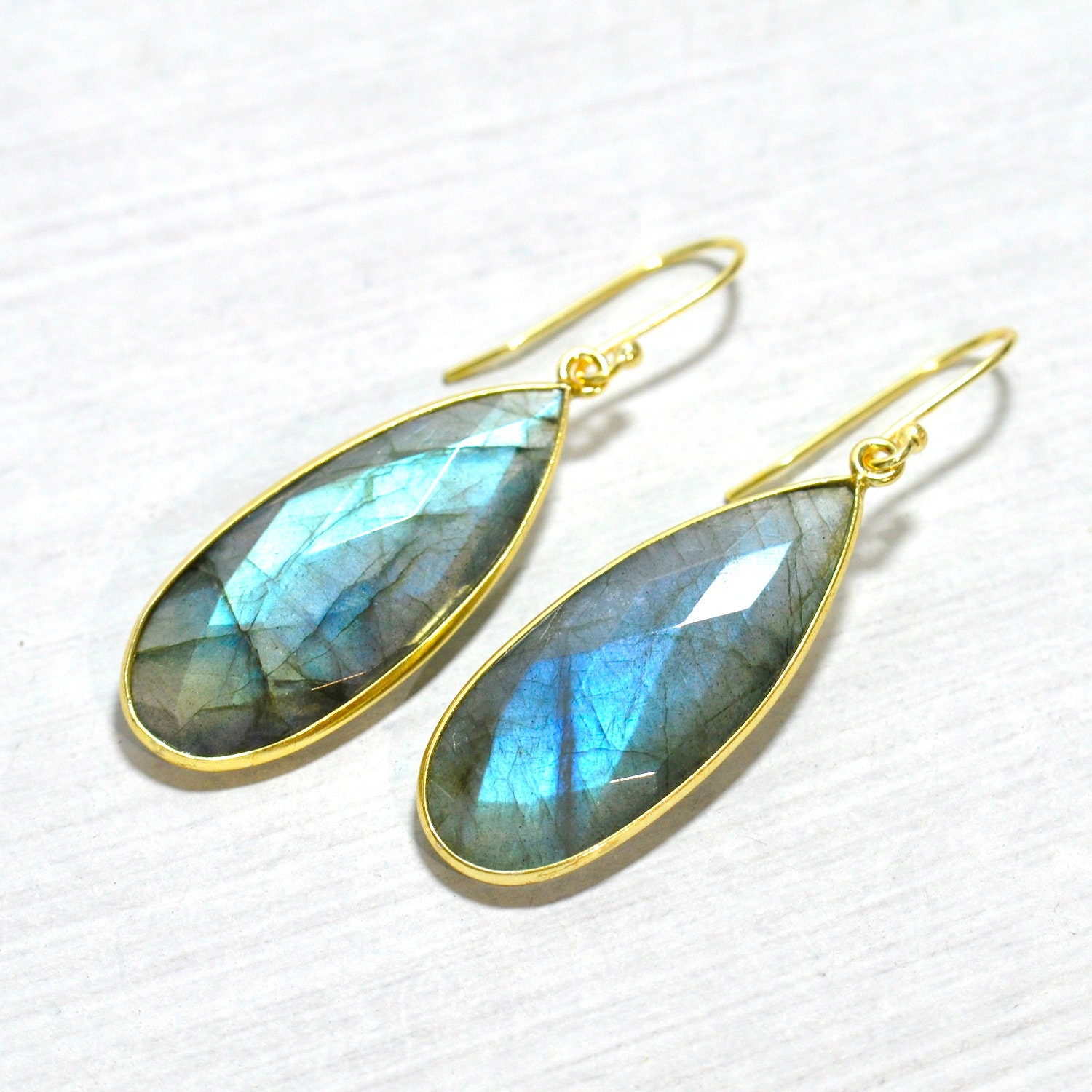 shop earrings norte labradorite luna dream big