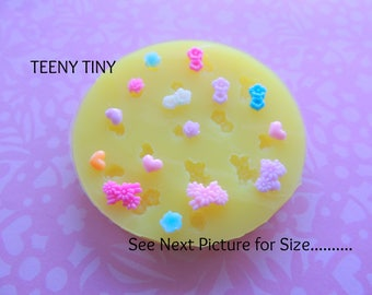Tiny Flower Mold, Daisy Mold, Resin Flower Mold, Miniatures, Mini Flower Molds, Heart Mold, Polymer Clay Mold