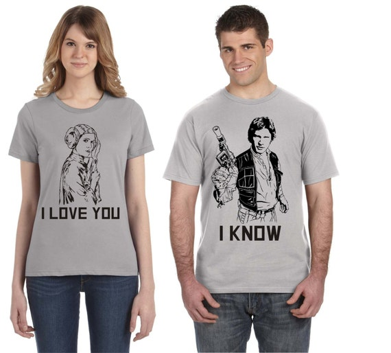 Disney Star Wars Han Solo and Princess Leia Matching Shirt Set xZzWxNW