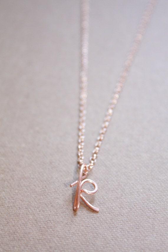 Buchstabe K Halskette Silber Rose Gold Initial Halskette