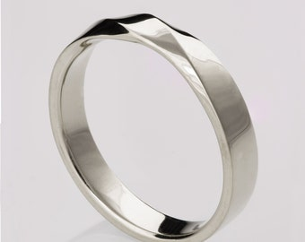 Mobius Ring, Platinum Ring , Wedding Ring , Platinum Wedding Ring , Wedding Band, Twisted wedding band, platinum ring, platinum band, 3