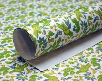 Bird Print handmade Wrapping Paper gift wrap set of two large sheets