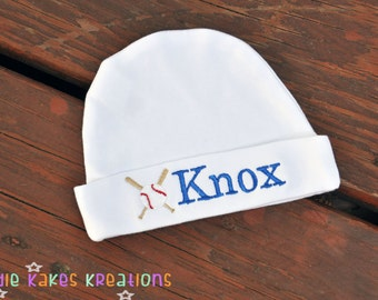 Baseball Baby Hat - Personalized Baby Hat - Baseball Beanie - Personalized Baseball Baby Beanie - Baby Shower Gift - Baseball Theme -Newborn