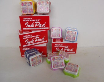 Marvy Matchable Dye Ink Pads, Stackable, Asst. Colors, NEW