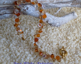 Topaz bracelet hanging topaz