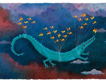Punishment for the crocodile. Illustration
