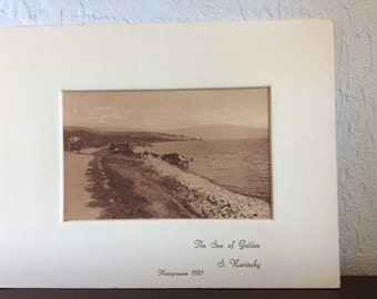 1921 Photogravure by S Narinsky The Sea of Galilee / Palestine ca 1921 / Image nr 33 / Vintage Photo