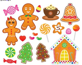 30 Gingerbread Clipart,Gingerbread cliparts,Christmas Gingerbread Cookies Clipart,Gingerbread Man Christmas Clip Art,gingerbread house,candy