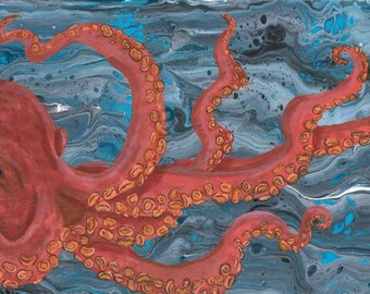 12x24 Octopus Art print