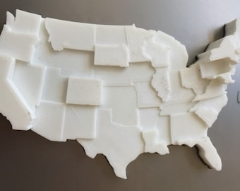 3D Printed Map | Infographic Fridge Magnet | Cost of Living Data Visualization