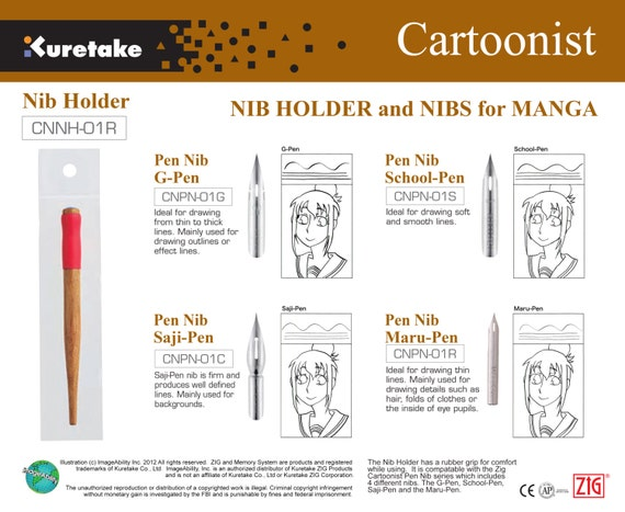 8Pc Needle Drawing Pen Set For Sketch Cartooning Signature 005 01 02 03 04  05 07