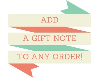 Add gift note on any item