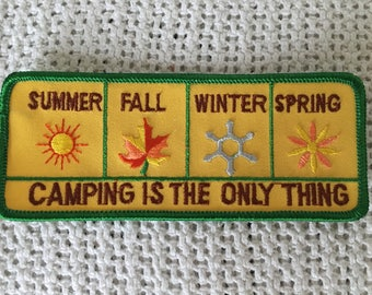 CAMPING is the Only Thing 4 Seasons Mint Patch Summer Fall Winter Spring CAMP Sunshine Flowers