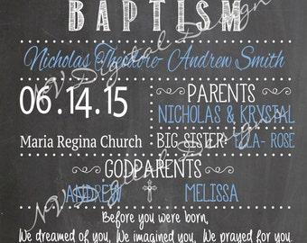 Baptism Sign - Baptism, Communion, Chalk Sign, Poster- DIGITAL FILE