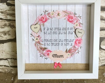 Mother's Day Gift Box Frame Customized Gift Shadow Box Frame - Home Decor