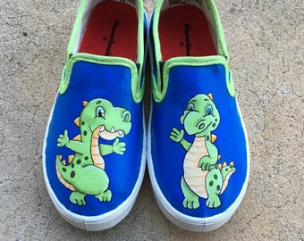Dinosaur special occasion hand-painted Shoes