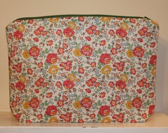 Wash Bag / Toiletry Bag / Makeup Bag in Liberty Print Fabric Felicite Handmade Gift for Her