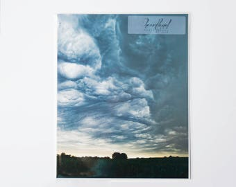 Nature Photography Prints, Nebraska Print Wall Art, 8x10 Photo Print Farmhouse, Storm Cloud, Farm Photograph, Field Prints Landscape