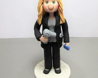 Hairdresser hairstylist Custom Cake Topper Figurine MADE TO ORDER