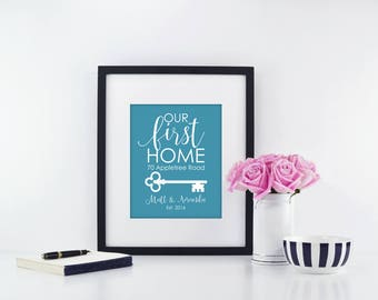 Realtor Closing Gift | Unique Realtor Closing Gift | Housewarming Gift | Personalized First Home Gift | Closing Gift | Home Sweet Home Sign