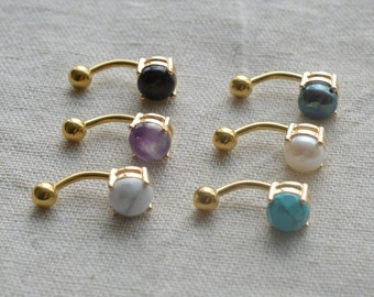 Sale-bellybutton rings gemstone belly ring cool belly button jewelry,navel ring,bff gift