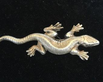 Sterling Lizard Pin