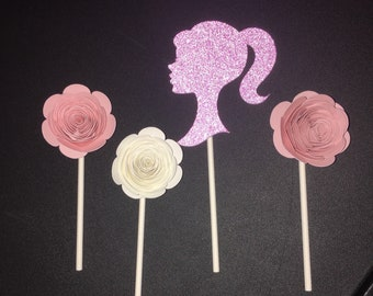 Barbie Party, Cupcake Toppers, Cake Banner