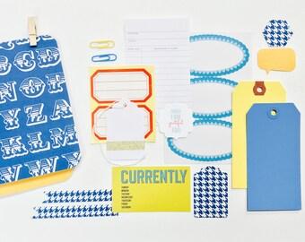 Houndstooth Alphabet Navy Travelers Notebook Kit . Field Notes Pocket Micro A6 A5 Passport Micro TN Refill Insert Midori Fauxdori Gratitude