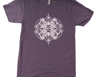 Surreal Sacred Geometry print 'Kaleidoscope', Colorado, Festival T - psychedelic Men's Lightweight T-shirt