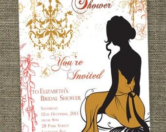 Vintage Bridal Shower - Bridal Tea invitations.